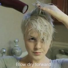 """3,086 Likes, 161 Comments - Short Hair Pixie Cut Boston (@nothingbutpixies) on Instagram: """"A great new styling tutorial by @sarahb.h. Who wants to see more of these styling videos just say…"""""""