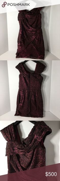 """Tadashi Shoji Animal Print Silk Vintage Dress - 2 100% Silk (Self).  Lining:  100% Polyester.  Made in China.  Approx measurements (Flat): Waist 15"""".  Length 41"""".  Please ask questions before purchasing.  Fair Condition.  See pictures for more information.  Thank you for shopping by my closet.  Sparkles ✨ and Happy Poshing!  📌Only Fair Offers Considered Tadashi Shoji Dresses"""