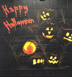 This mural was painted by inmates at our Promontory facility. Superhero Logos, Happy Halloween, Funny Quotes, Inspiration, Decor, Art, Funny Phrases, Biblical Inspiration, Art Background