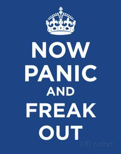 Now Panic and Freak Out Poster Card Poster Card