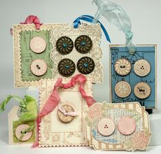 DIY::Button Gift Tags - these are beautiful!