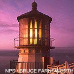 Point Reyes Lighthouse at dusk. Photo by Bruce Farnsworth.
