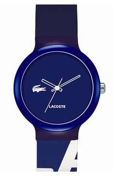 Lacoste 'Goa' Colorblock Silicone Strap Watch http://www.wantering.com/clothing-item/lacoste-goa-colorblock-silicone-strap-watch-40mm/af4rk/