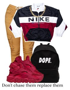 A fashion look from August 2016 featuring NIKE activewear jackets and NIKE sneakers. Browse and shop related looks. Lit Outfits, Cute Swag Outfits, Jordan Outfits, Teenage Outfits, Dope Outfits, Outfits For Teens, Trendy Outfits, Fall Outfits, Summer Outfits