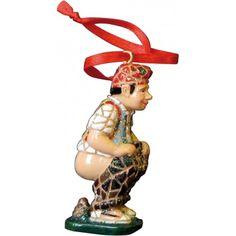 Caganer Christmas tree ornament