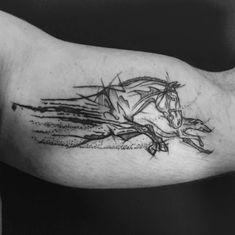 Horse&greyhound for Łukasz - Body Art - Hunde Music Tattoos, Dog Tattoos, Couple Tattoos, Body Art Tattoos, Sleeve Tattoos, Tattoos For Guys, Animal Tattoos, Tatoos, Slavic Tattoo