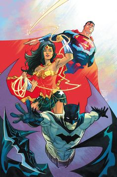 DC Trinity by Francis Manapul - Visit to grab an amazing super hero shirt now on sale!