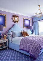 Done right, purple can be an distinguishing color in any room in your home. These 25 photos show how to use this regal shade in bedrooms, living rooms, and more. Bedroom Decor, Bedroom Color Schemes, Bedroom Colors, Bedroom Green, Purple Bedrooms, Blue Bedroom, Remodel Bedroom, Trendy Bedroom, Blue Floor Paint