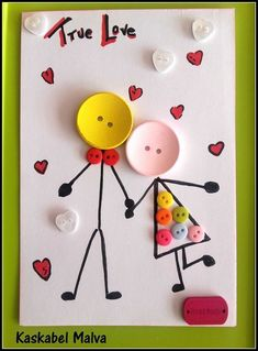 75 Handmade Valentine's Day Card Ideas for Him That Are Sweet & Romantic - Hike . 75 Handmade Valentine's Day Card Ideas for Him That Are Sweet & Romantic – Hike n Dip – Sriru Handmade Birthday Cards, Greeting Cards Handmade, Kids Crafts, Button Crafts For Kids, Creative Crafts, Diy Gifts, Handmade Gifts, Handmade Headbands, Handmade Ideas