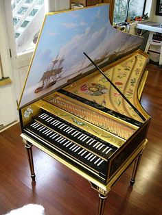 Chinoiserie harpsichord by Lance Myers