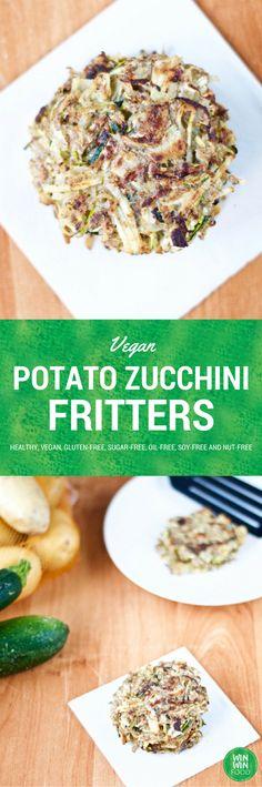 Vegan Potato Zucchini Fritters | WIN-WINFOOD.com #healthy #vegan #glutenfree