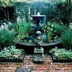 romantyczny ogród w stylu vintage