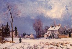 Camille Pissarro, The Road from Versailles to Saint-Germain, Louveciennes 2