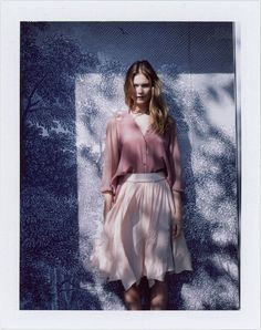 Behati Prinsloo by Lina Scheynius for Anthropologie January 2012