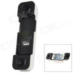 001 profesionales del auricular Altavoz Amplificador w / Stander para iPhone 5 - Blanco + Negro SKU: 193760 (Añadido el 3/22/2013) Precio: US$  14.00 Envío: Envío Gratis A SPAIN ColorBlanco + negro MaterialABS Modelos compatiblesiPhone 5 FunciónAltavoz FM RadioNo Otras característicasDiseño especial puede efectivamente agranda música desde tu iPhone 5, fácil de instalar y quitar, usted puede utilizarlo como soporte Contenido del paquete1 x Amplificador  2 x Soportes