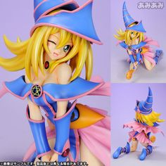YuGiOh Dark Black Magician Girl Limited 1:7 PVC Figure | eBay