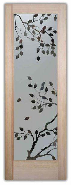 Frosted Glass Doors Etched Glass Cherry Tree Door Sans Soucie