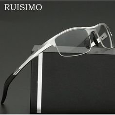 7b9cdd6b37 Ruisimo Brand Aluminum Men Eyeglasses Fashion Myopia Optical Computer  Glasses Frame 7718