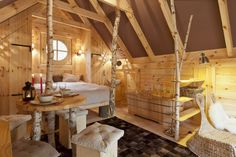 Chalet for 2 persons with sauna in Houffalize (Belgian Ardennes). Wouaw ! so cosy! We like it!!!!!