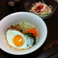 野菜も沢山食べれるし 一杯で栄養満点です(*^^*) - 4件のもぐもぐ - ビビンバ丼 by kekeke