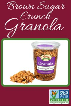 Brown Sugar Crunch Granola  http://www.auroraproduct.com/product/granola-brown-sugar-crunch-14-oz/