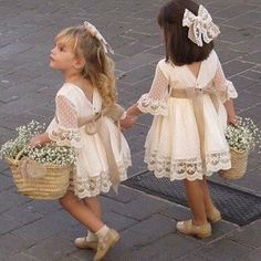 A line Long Sleeve Lace Flower Girl Dresses Above Knee Scoop Bowknot Baby Dress on sale – PromDress.uk A line Long Sleeve Lace Flower Girl Dresses Above Knee Scoop Bowknot Baby Dress on sale – PromDress.uk Source by impimplant girl dress long sleeve Lace Flower Girls, Lace Flowers, Boho Flower Girl, Rustic Flower Girl Dresses, Wedding Flower Girl Dresses, Baby Wedding Outfit Girl, Flower Girl Basket, Baby Dresses For Weddings, Vintage Flower Girls
