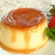 Creamy Pear Flan.