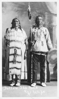 Follow The Road and his wife - Northern Cheyenne - no date