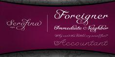 Serofina™ - Webfont & Desktop font « MyFonts
