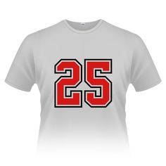 25 sports jersey football number