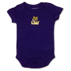 LSU Navy Body Suit #LSU #Infant #Baby #Toddler #Babyfans