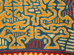 old mola textile panel