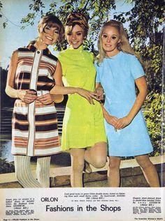 1968 Orlon fashions.