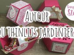 Thinlits « Jardinière » et sa vidéo Stampin Up, Catalogue, Big Shot, Advent Calendar, Scrap, Window, Holiday Decor, Box, Tips And Tricks