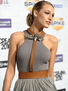 Blake Lively  yay or nay to this necklace belt combo?