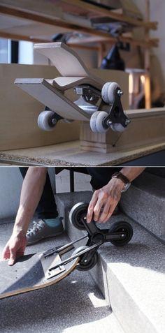 Po Chih Lai's Staircase Friendly Skateboard Design Core77 in Skateboards