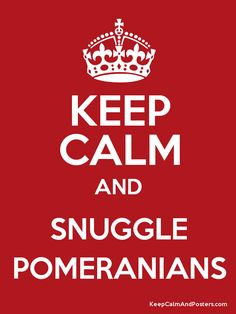 Keep Calm and Snuggle Poms