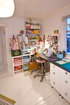 I want a sewing room like this... wait a minute, Im going to have a sewing room like this one day