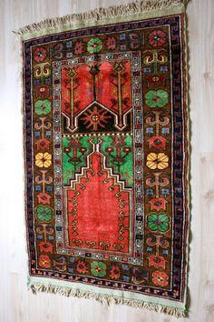 Antique Prayer Rug from Konya