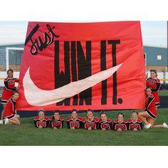 Football run through sign!