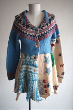 One of A Kind Recycled Sweater by Claudia Grau   eBay
