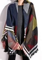 Cheap women winter scarf, Buy Quality a scarf directly from China aztec scarf Suppliers: Women Winter Scarves Tribe Aztec Scarf Blanket Ponchos Pashmina Cashmere Shawl Warmer Bufandas Mujer 2016 Spain Brand Scarf Plaid Fashion, Fashion Outfits, Womens Fashion, Fall Fashion, Classy Fashion, Street Fashion, Casual Outfits, Cape Scarf, Scarf Wrap