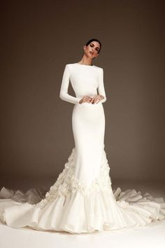 The FashionBrides is the largest online directory dedicated to bridal designers and wedding gowns. Find the gown you always dreamed for a fairy tale wedding. Simple Sexy Wedding Dresses, Muslim Wedding Dresses, Perfect Wedding Dress, Wedding Goals, Wedding Events, Weddings, Evening Gowns With Sleeves, Bridal Collection, Nice Dresses