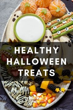 Halloween snacks for kids can allow your children to enjoy the fall holiday festivities, and its chewy extras, without leading to cavities or too much sugar. You can even pass Halloween fruit treats and other healthy Halloween treats out to neighbor kids when they come knocking at the door.