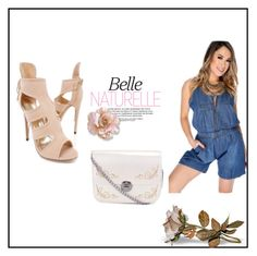 """""""All Naturelle"""" by amiclubwear ❤ liked on Polyvore featuring denim, highheels and romper"""