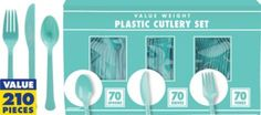 Robin's Egg Blue Cutlery 70 sets - Party City $10 is this too cheap??