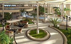 Mega Yachts: Streets of Monaco atrium
