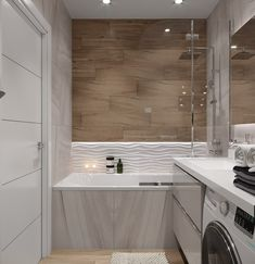 Trendy bathroom layout with laundry ideas Bathroom Inspo, Laundry In Bathroom, Bathroom Layout, White Bathroom, Bathroom Inspiration, Mirror Bathroom, Small Laundry, Bathroom Design Small, Bathroom Interior Design