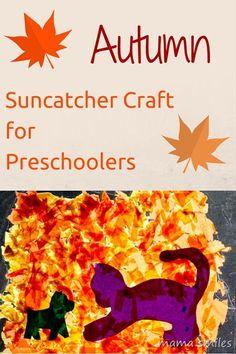 Autumn suncatcher preschool craft