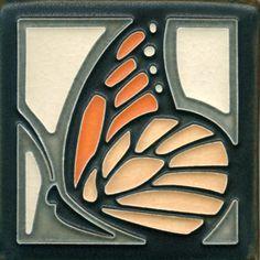 4x4 Butterfly in Tangerine www.motawi.com